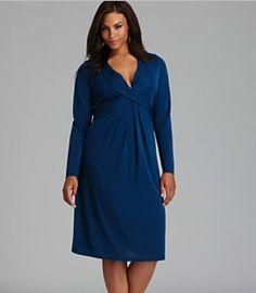 Anna Scholz Plus Size Tie Back Jersey Dress