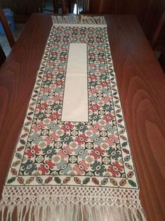 This Pin was discovered by Geo Cross Stitching, Cross Stitch Embroidery, Embroidery Patterns, Cross Stitch Charts, Cross Stitch Patterns, Palestinian Embroidery, Crochet Table Runner, Needlepoint Designs, Patterned Carpet