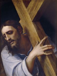 https://flic.kr/p/oe8Deq | Christ carrying the Cross | 1532-1535. Oil on slate. 43 x 32 cm. Museo Nacional del Prado, Madrid. P00348.