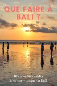 Que faire à Bali ? 10 incontournables présentés par Sarah sur son blog de voyage