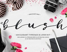 Blush Typeface  Logo Kit (AI) by MakeMediaCoIntroducing the...