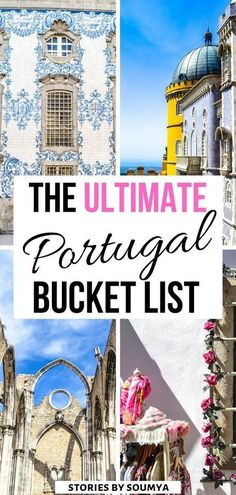 Need some travel inspiration? Click to have a look at this amazing list of the 17 most incredible places to visit in Portugal. Cobblestone streets, colored homes, and rich history - get ready to be awed. The Ultimate Portugal Bucket List | Portugal Travel Amazing Places | Portugal Travel Tips | Portugal Travel Guide | Beautiful Places in Europe #CultureTravelWithSoumya #Portugal #Europe Places In Europe, Europe Destinations, Europe Travel Tips, European Travel, Amazing Destinations, Asia Travel, Places To Travel, Beautiful Places To Visit, Cool Places To Visit