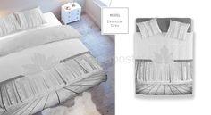 Luxusné posteľné obliečky sivej farby s javorovým listom