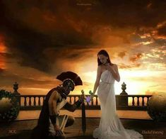 Spartan #warrior king and his queen. To serve and protect his #kingdom