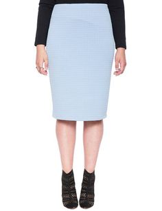 Ottoman Texture Midi Pencil Skirt  | Christening possible [ Purchased! ]