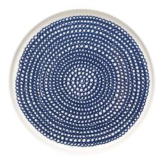 Marimekko Siirtolapuutarha Blue and White Plate modern dinnerware Marimekko, Ceramic Plates, Ceramic Pottery, Ceramic Art, Ceramic Painting, Modern Dinnerware, Blue Dinnerware, Porcelain Pens, Painted Porcelain