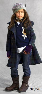 Model: Gabriella Jones  for Ralph Lauren Kids, 2008