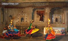 'Chari' dance- A folk dance from Rajastan, India with women carrying ignited brass pots on their heads