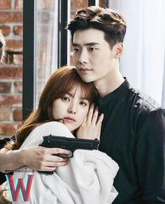 Han Hyo Joo Lee Jong Suk, Lee Tae Hwan, Lee Jung Suk, Korean Actresses, Korean Actors, Actors & Actresses, Movie Couples, Cute Anime Couples, W Two Worlds Art