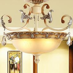 European-Style Classic Chandelier With Crystal Decoration - 3 Light – LightSuperDeal.com