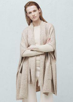 Textured cape | MANGO