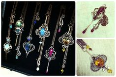 Handmade wire wrapped, filigree, fantasy and steampunk jewelry.