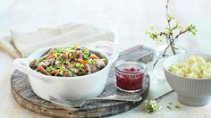 MatPrat - Kremet viltpanne med potet- og pastinakkmos