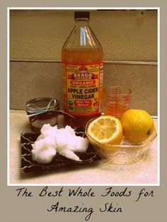 The best all natural skin care recipes for beautiful skin. Apple cider vinegar, lemon, and coconut oil work wonders for clearing and beautifying skin.