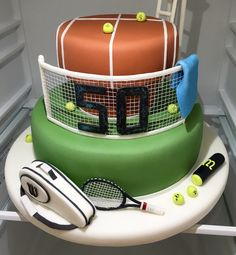 wimbledon tennis cake ideas on tennis cake best 25 tennis cake ideas on tennis cupcakes Tennis Cupcakes, Tennis Cake, Tennis Party, Giraffe Birthday Cakes, Dad Birthday Cakes, Fondant Cookies, Volleyball Cakes, Decors Pate A Sucre, Thomas Cakes