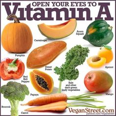 Vitamin A is a fat-soluble vitamin that is naturally present in food. Vitamin A is important for normal vision the. Vegan Nutrition, Proper Nutrition, Health And Nutrition, Shakeology Nutrition, Vegan Shakeology, Broccoli Nutrition, Nutrition Month, Health Tips, Vitamin A Foods
