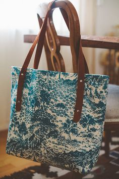 Blue Mountain Tote by HermitageHomespun on Etsy, $68.00