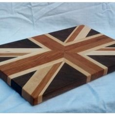 Union Jack Cutting Board by Gillengerten Carpentry - Why not add that special Union Jack touch to your kitchen or grill area with this cutti...
