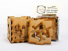 This distinguished laser-cut cube lantern is almost 3 high. It features three beautiful Italian landmarks plus the traditional Sicilian trinacria symbol. Cutouts let the golden glow of a standard LED tealight shine through the lights of these night scenes. This item is shipped in kit form.  This cube lantern looks great at eye level with an LED tealight inside, or you can fill it with wrapped candy (not included). It makes a great gift for anyone who loves Italy, whether they have Sicilian…