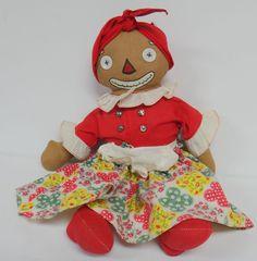"GEORGENE BELOVED BELINDY 15"" RAGGEDY ANN MAMMY 1940'S BOXY FEET VINTAGE DOLL #Dolls"