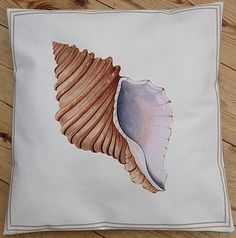 Limited Edition Neptune Shell Print Cushion - for day room