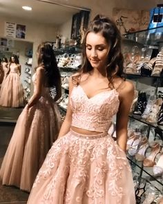 prom dresses two piece prom dresses prom dresses long prom dresses 2020 prom dresses black girls slay prom dresses short prom dresses two piece prom dresses blue prom dresses long with sleeves Straps Prom Dresses, Pretty Prom Dresses, Prom Dresses Two Piece, Black Prom Dresses, Ball Gowns Prom, Two Piece Dress, Formal Evening Dresses, Dress Long, Prom Two Piece