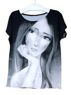 RUDA   Szept M www.szeptm.pl #watercolor #blouse #face #portrait #woman #clotches