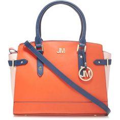58c07fc27d Star by Julien Macdonald Designer orange colour block winged tote bag- at  Debenhams Mobile