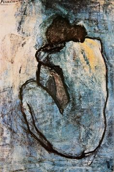 Blue Nude, c.1902 by Pablo Picasso  I have a framed poster of this.  It is so beautiful.