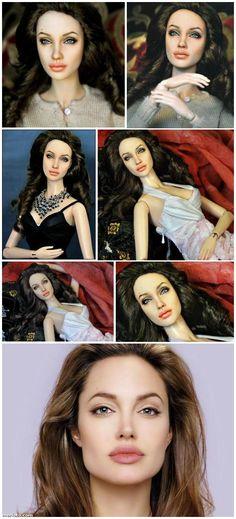 Angelina Jolie Barbie Repainted by Noel Cruz