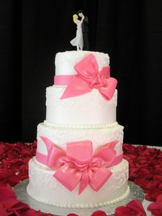 This, but a different cake topper and our initials instead of the bottome bow?