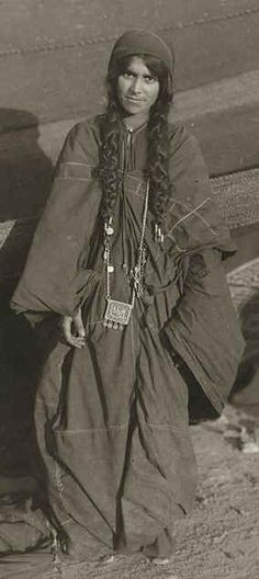 A Bedouin woman from Syria. First half of 20th century.