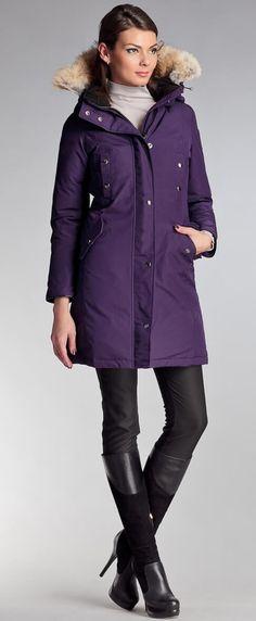 Women's winter down coat, 725 fill power. Arctic Bay - Made in Canada. Winter Parka, Winter Jackets, Parka Outfit, Beige Outfit, Winter Outfits, Winter Clothes, Down Coat, Warm Coat, Autumn Fashion
