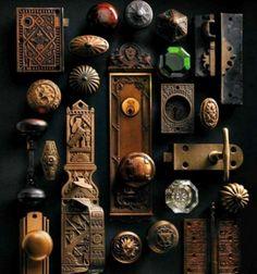 Beautiful vintage door knobs