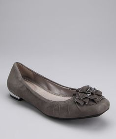 Take a look at this Slate Gray Dominic Flat by Me Too on #zulily today!