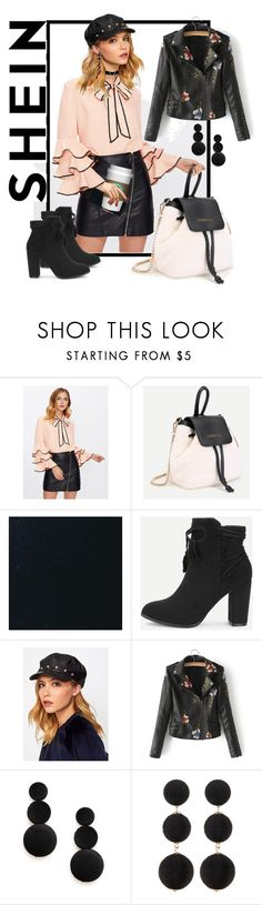 """""""workin that pretty bow neck blouse"""" by caroline-buster-brown ❤ liked on Polyvore featuring Cara"""