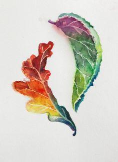Falling Leaves by Jenn Hesse on Etsy