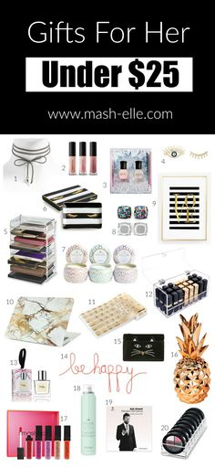 47 Gift For Her Ideas Gifts For Her Inexpensive Holiday Gifts Gifts