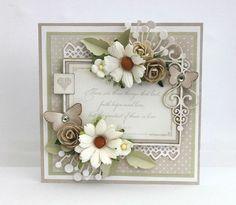 card flower daisy daisies leaves leaf elegant butterfly
