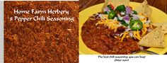 8 Pepper Chili Seasoning, Order now, ..., Food items in Hart County
