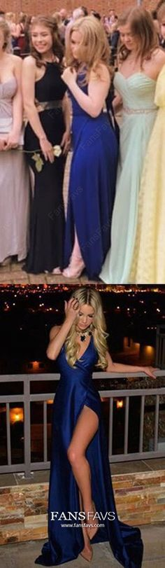 Royal Blue Formal Dresses Long Prom Dresses With Slit, Sheath/Column Military Ball Dresses V-neck, Sexy Wedding Party Dresses Open Back Cheap Formal Dresses Long, Simple Homecoming Dresses, Formal Dresses Online, Royal Blue Prom Dresses, Backless Prom Dresses, Prom Dresses Blue, Evening Dresses, Ball Dresses, Prom Gowns