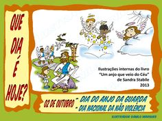 """SÉRIE """"QUE DIA É HOJE?"""" 01  02 de Outubro - Dia do Anjo da guarda e dia nacional da não violência.  #anjodaguarda #quediaéhoje #datas #datascomemorativas"""