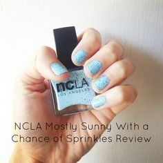 NCLA Mostly Sunny With a Chance of Sprinkles Review @NCLA #vegan #crueltyfree #ncla #polish #nailpolish #manicure