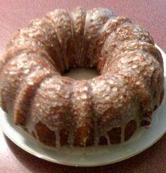 Sweet Tea and Cornbread:     Honey Bun Cake...always a favorite!    yel. cake mix, eggs, s. cream, oil, br sug, cinn,    Glaze: p sug, 1/2 & 1/2 , van.