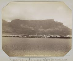 George Washington Wilson | Cape town and Table Mountain from Table bay, George Washington Wilson, c. 1890 - c. 1896 |