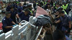 Hong Kong police, protesters clash