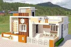 Unlike just past days, now there is no tension in getting approval for building house plan with telangana government new muncipal act, which approves all housing plans online. Beautiful House Plans, Beautiful Homes, Indian House Exterior Design, Storey Homes, Indian Homes, House Elevation, Building A House, House Design, How To Plan