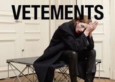 Get to Know Designer Vetements - theFashionSpot - Get to Know Designer Vetements – theFashionSpot Get to Know Vetements, Best Emerging Designer Nominee for the tFS Style Awards 2014 Fashion Mode, Fashion Shoot, Editorial Fashion, Street Fashion, Fashion Brands, Ad Fashion, Demna Gvasalia Vetements, Editorial Photography, Runway