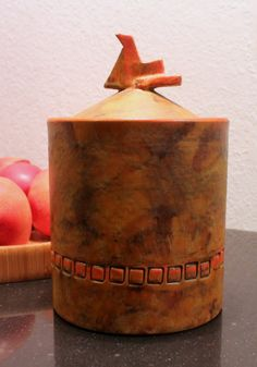 Alvino Bagni lidded jar, imported by Raymor (purchased April, 2013)