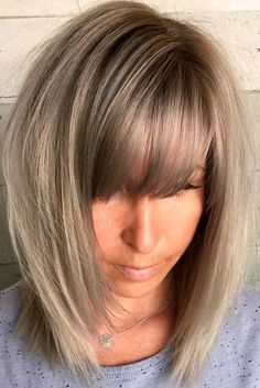 Hair Styles For Medium Length Hair – Hair Style Ideas Medium Hair Cuts, Medium Hair Styles, Short Hair Styles, Medium Length Hair Cuts With Bangs, Mid Length Hair Styles With Layers, A Line Bob With Bangs, Medium Bob With Bangs, Lob With Bangs, Cut Bangs